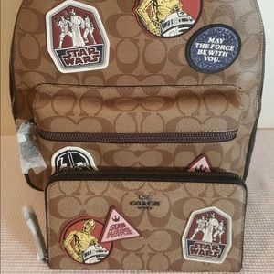 Coach Star Wars Backpack and Wallet